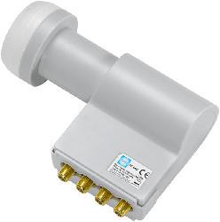 OC 06D Quad-Switch LNC 40 mm 0.2 dB LNB mit integrierten Multischalter
