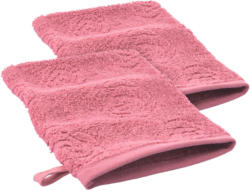 2 Waschhandschuhe mit Rosen-Muster (Nur online)