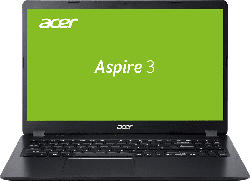 ACER Aspire 3 (A315-54K-38F5), Notebook mit 15.6 Zoll Display, Core™ i3 Prozessor, 8 GB RAM, 512 GB SSD, Intel UHD Grafik 620, Schwarz