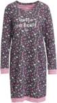 Ernsting's family Damen Nachthemd mit floralem Allover-Motiv