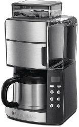 RUSSELL HOBBS 25620-56 Grind & Brew Digital Kaffeemaschine Edelstahl/Grau