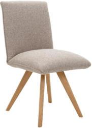Stuhl in Holz, Textil Taupe, Eichefarben