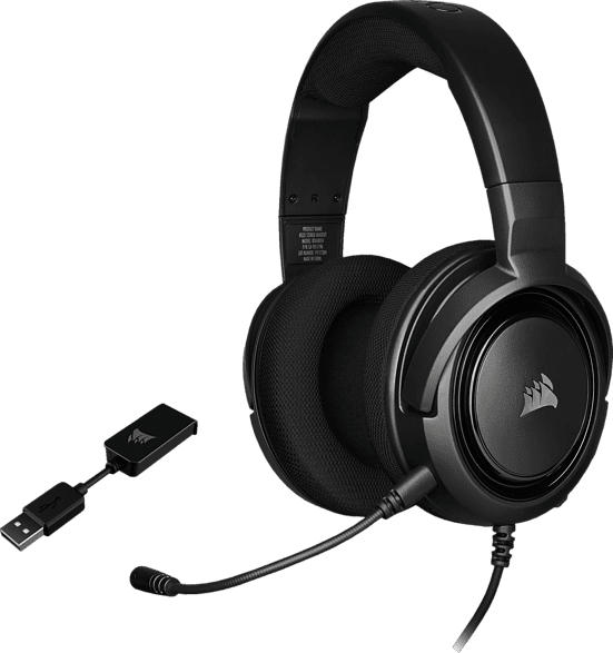 CORSAIR HS45 Gaming Headset, Gaming-Headset, Headset, Kopfbügel-Headset, Over-Ear Stereo Gaming Headset, Stereo Gaming Headset Carbon