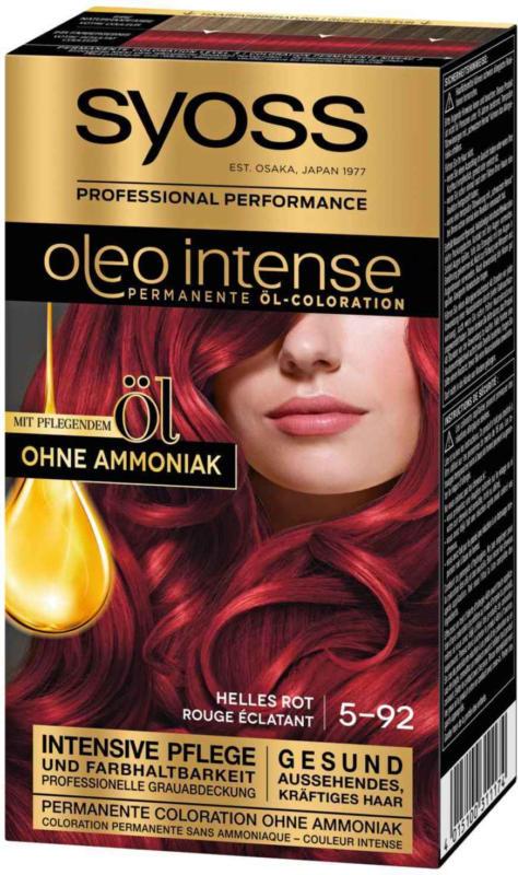 Syoss Oleo Intense Permanente Öl-Coloration Helles Rot 5-92 -