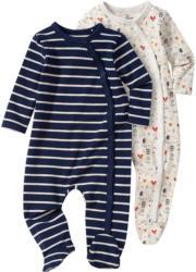 2 Newborn Schlafanzüge mit Fuß