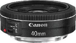 CANON EF 40mm 1:2,8 STM 40 mm f/2.8 STM (Objektiv für Canon EF-S-Mount, Schwarz)