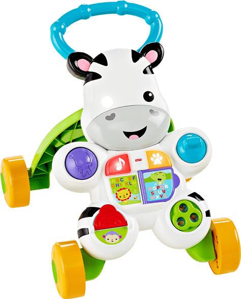 FISHER PRICE Lern mit mir Zebra-Lauflernwagen, Baby Lauflernhilfe Laufwagen, Mehrfarbig