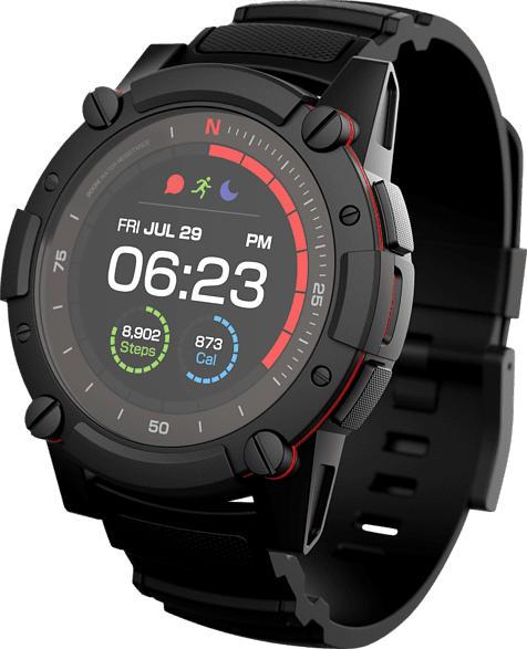 MATRIX  PowerWatch Series 2 Smartwatch Aluminium, Silikon, Einheitsgröße, Schwarz