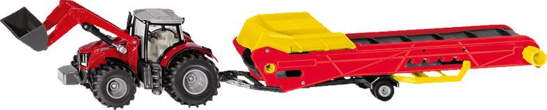 SIKU Massey Ferguson Traktor mit Förderband Modellfahrzeug, Mehrfarbig