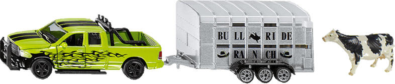 SIKU RAM 1500 mit Viehanhänger Modellfahrzeug, Mehrfarbig