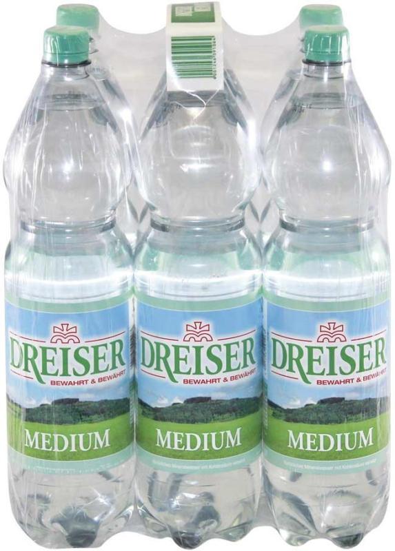 Dreiser Mineralwasser versch. Sorten, jede 6 x 1,5-Liter-Packung