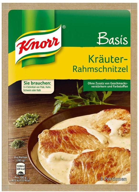 Knorr Basis Kräuter-Rahm-Schnitzel