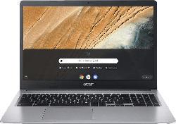 ACER Chromebook 15 (CB315-3HT-C47Q), Chromebook mit 15.6 Zoll Display, Celeron® Prozessor, 4 GB RAM, 64 GB eMMC, Intel® UHD-Grafik 600, Silber