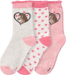3 Paar Mädchen Socken mit Wellenbündchen