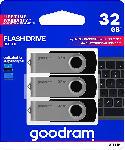 MediaMarkt USB Stick 3er Pack mit je 32 GB, schwarz (UTS3-0320K0R11-3P)
