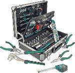 MediaMarkt MANNESMANN 29067 Alu-Werkzeugkoffer 90-teilig Handwerkzeug, Grün/Schwarz