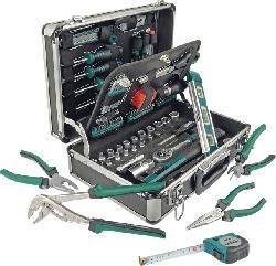 MANNESMANN 29067 Alu-Werkzeugkoffer 90-teilig Handwerkzeug, Grün/Schwarz