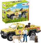 MediaMarkt SCHLEICH Tierarztbesuch auf dem Bauernhof Spielfiguren, Mehrfarbig
