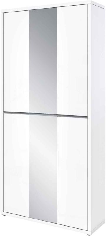 Meuble à chaussures polyvalent Faro, 4 portes, blanc -