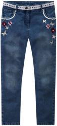Mädchen Skinny-Jeans mit floraler Stickerei