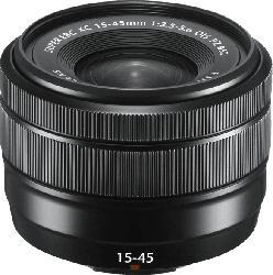 FUJIFILM XC OIS PZ 15 mm-45 mm f/3.5-5.6 OIS (Objektiv für Fuji X-Mount, Schwarz)