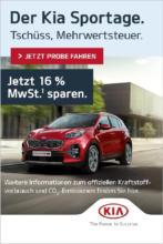 Der Kia Sportage. Tschüss, Mehrwertsteuer!