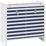 Möbelix Waschbeckenunterschrank Sailor B: 65 cm Weiß, Blau