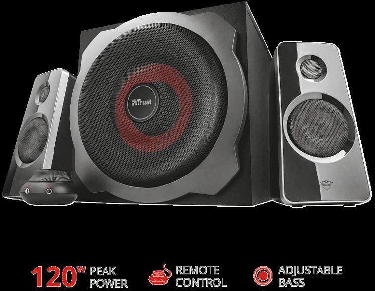 TRUST 19023 GXT 38 Ultimate Bass 2.1 Lautsprecherset PC-Lautsprecher