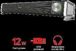TRUST Trust Asto Soundbar PC Lautsprecher PC-Lautsprecher