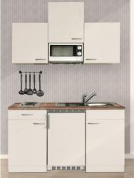 Respekta Küchenzeile KB150WWMI 150 cm Weiß