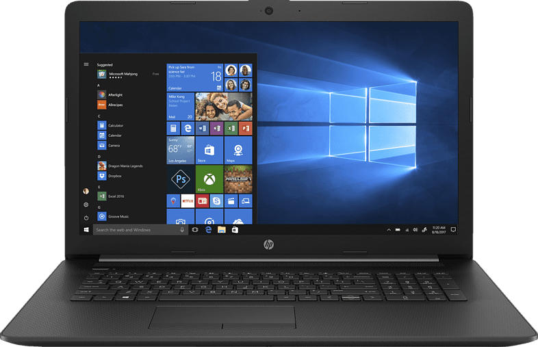 HP 17-by0344ng, Notebook mit 17.3 Zoll Display, Core™ i3 Prozessor, 8 GB RAM, 256 GB SSD, Intel® UHD Grafik 620, Schwarz