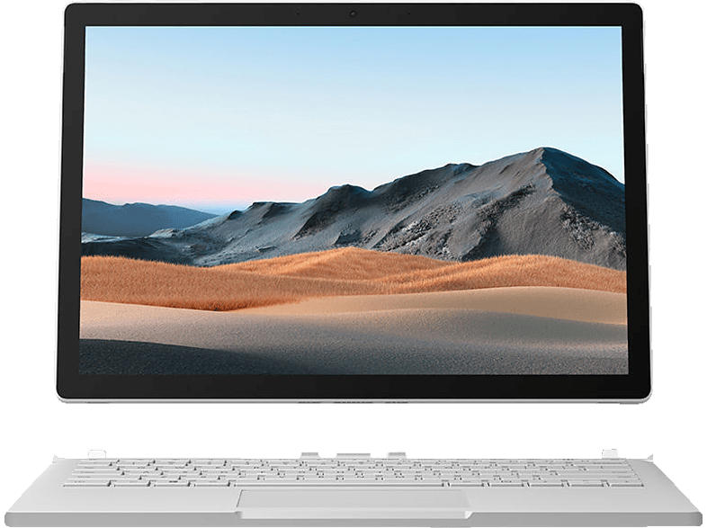 MICROSOFT Surface Book 3, Convertible mit 13.5 Zoll Display, Core™ i7 Prozessor, 32 GB RAM, 1 TB SSD, GeForce® GTX 1650, Platin