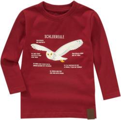 Kinder Langarmshirt mit Schleiereulen-Print