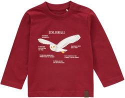 Baby Langarmshirt mit Schleiereulen-Print