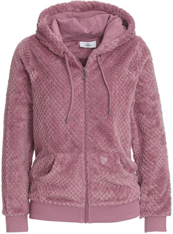 Damen Kuschel-Jacke mit Kapuze (Nur online)