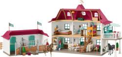 SCHLEICH Der Große Pferdehof mit Wohnhaus und Stall Spielset Spielset, Mehrfarbig