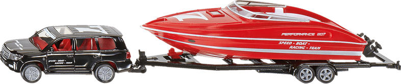 SIKU PKW mit Motorboot PKW Miniaturen, Mehrfarbig