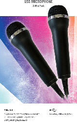 DEEP SILVER Mikrofon für Karaoke Games (Lets Sing, Voice of Germany, SingStar etc.) für PlayStation, Nintendo, XBOX One , USB Mikrofone , Schwarz