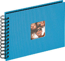WALTHER Spiralalbum Fun Fotoalbum , 40 Seiten , Strukturpapier , Oceanblau