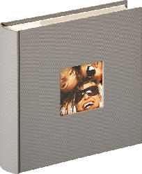 WALTHER Memo-Album Fun Fotoalbum , 100 Seiten , Strukturpapier , Grau