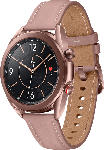 MediaMarkt SAMSUNG  Galaxy Watch 3 41 mm LTE & Bluetooth Smartwatch Edelstahl, Echtleder, Größe S/M (130 - 190 mm), Mystic Bronze/Pink