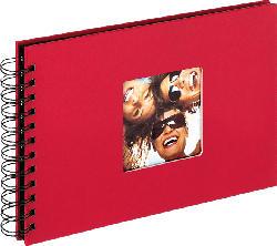 WALTHER Spiralalbum Fun Fotoalbum , 40 Seiten , Strukturpapier , Rot