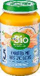dm-drogerie markt dmBio Babymenü Karotten mit Reis und Lachs ab dem 5. Monat, Demeter