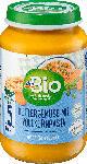 dm-drogerie markt dmBio Babymenü Buttergemüse mit Vollkornpasta, ab dem 5. Monat, Demeter