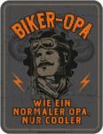 Möbelix Dekoschild Blechschild Biker Opa