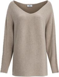 Damen Pullover mit feiner Rippstruktur