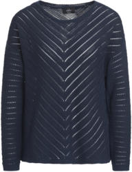 Damen Pullover mit Ajourmuster in Keil-Form