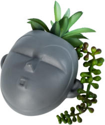 Deko-Hänger Gesicht mit Kunstpflanzen (Nur online)