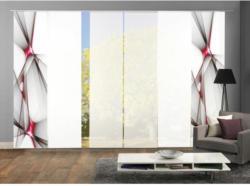Vorhang mit Paneelwagen Franklin B: 360cm, Rot/Schwarz