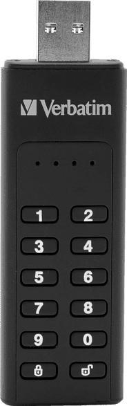 VERBATIM Keypad Secure USB-Stick, Schwarz, 32 GB